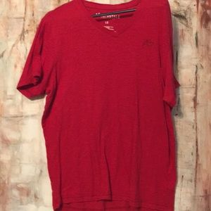 Aeropostale men's large red vee neck tee